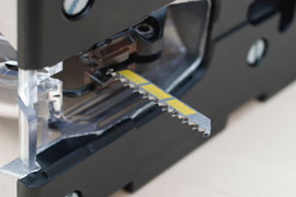 jigsaw blade installed in jigsaw